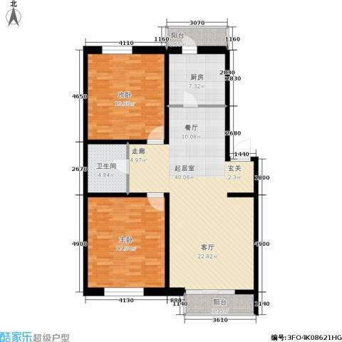 世代龙城2室0厅1卫1厨105.00㎡户型图