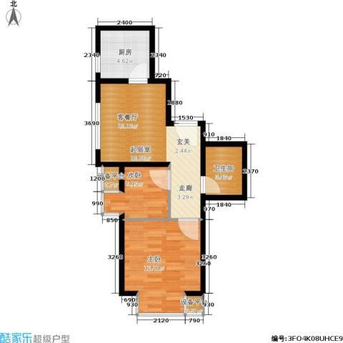 世代龙城2室0厅1卫1厨49.00㎡户型图