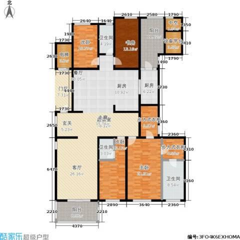 万科国际广场4室0厅3卫1厨220.00㎡户型图