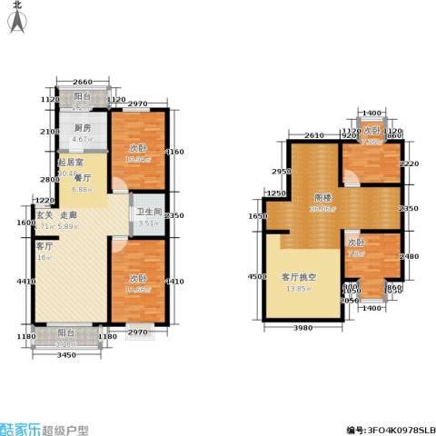 四季嘉园观唐4室0厅1卫1厨117.93㎡户型图