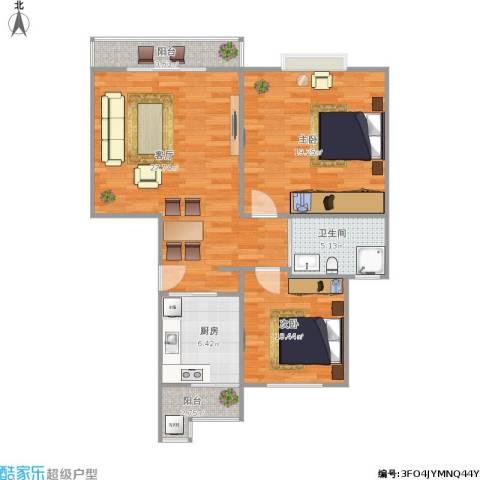 斜土路1212弄公房2室1厅1卫1厨102.00㎡户型图
