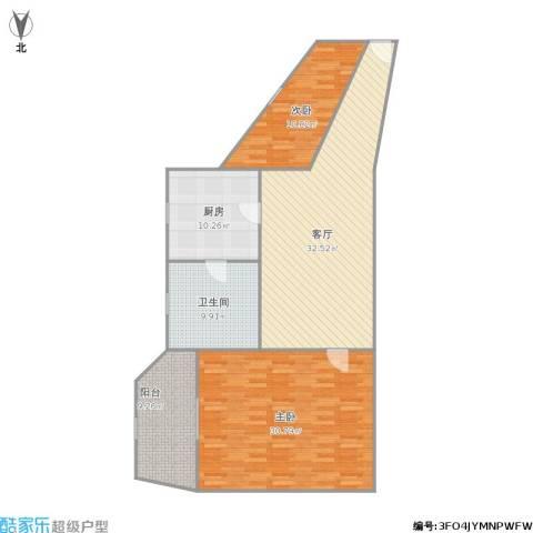 辉华大楼2室1厅1卫1厨136.00㎡户型图