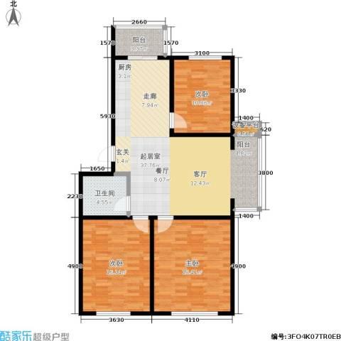 四季嘉园观唐3室0厅1卫0厨102.00㎡户型图
