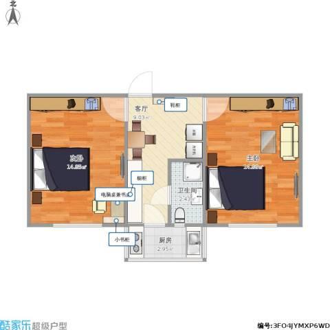 倚虹中里2室1厅1卫1厨59.00㎡户型图
