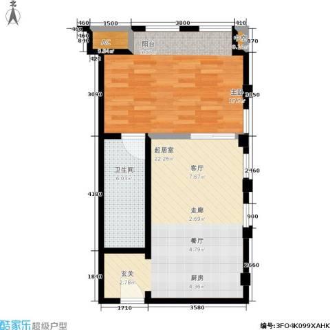 协信 中心1室0厅1卫0厨66.00㎡户型图