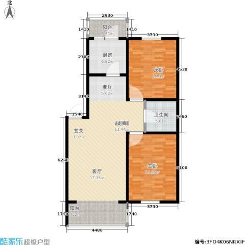 地利苑2室0厅1卫1厨102.00㎡户型图