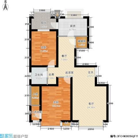 德馨苑2室0厅1卫1厨95.55㎡户型图