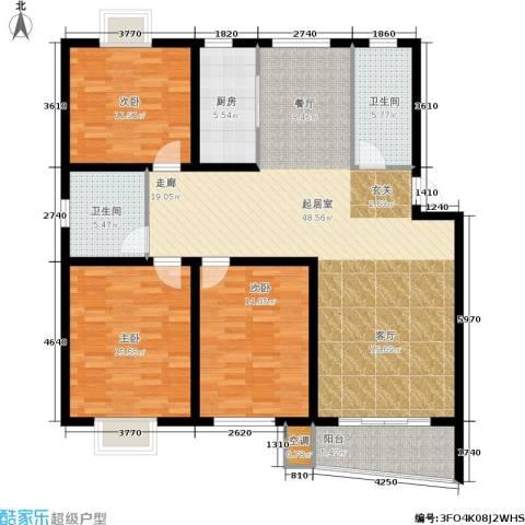 旭升花苑3室0厅2卫1厨127.00㎡户型图
