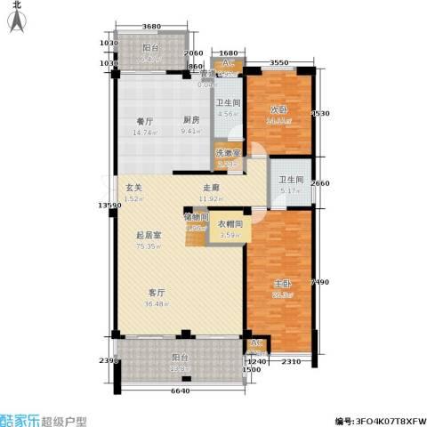 金鸡湖花园2室0厅2卫0厨160.00㎡户型图