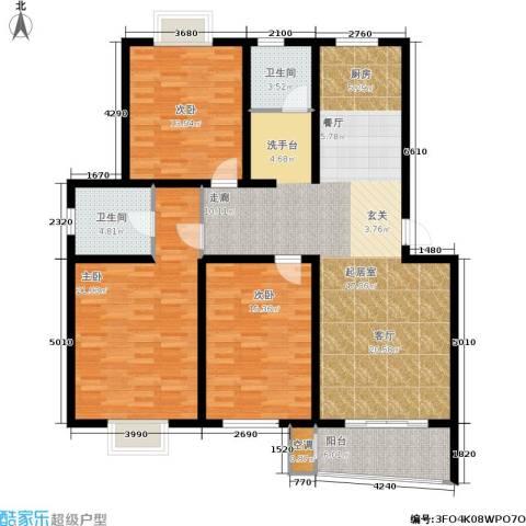 旭升花苑3室0厅2卫0厨127.00㎡户型图