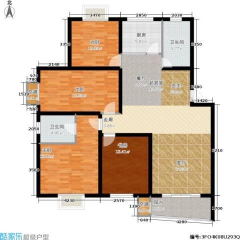 旭升花苑4室0厅2卫1厨137.00㎡户型图