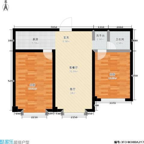 城品城2室1厅1卫0厨73.00㎡户型图