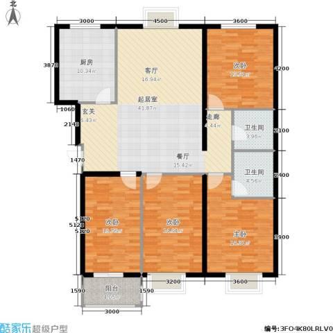 花溪里4室0厅2卫1厨157.00㎡户型图