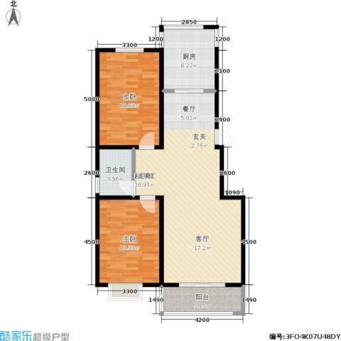 鑫丰国际2室0厅1卫1厨114.00㎡户型图