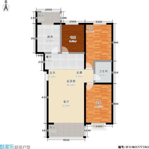 鑫丰国际3室0厅1卫1厨138.00㎡户型图