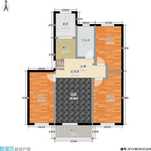南岭新城三期3室0厅1卫1厨88.00㎡户型图