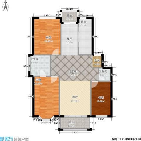 观山满庭芳3室1厅2卫1厨112.00㎡户型图