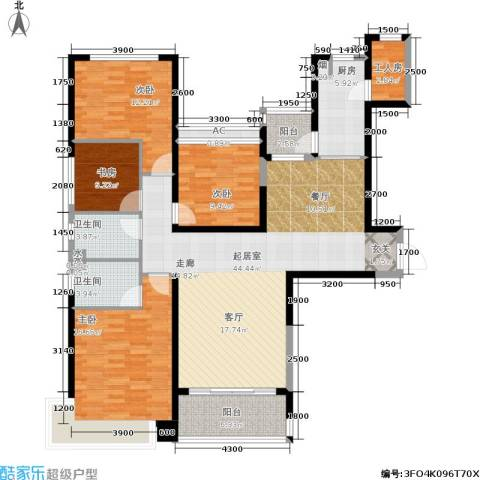恒大雅苑4室0厅2卫1厨164.00㎡户型图