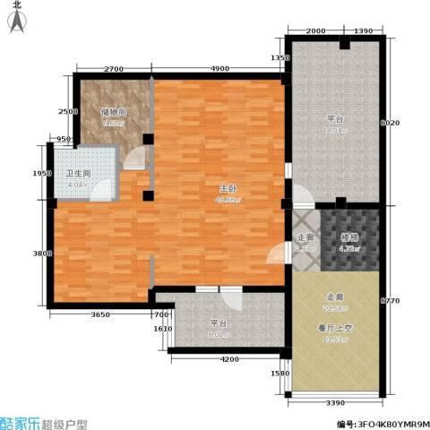 万科新榆公馆一期1室0厅1卫0厨148.00㎡户型图