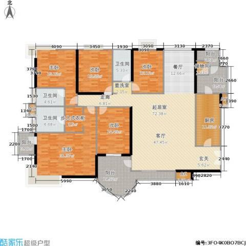 华侨城天鹅堡三期5室0厅3卫1厨240.00㎡户型图