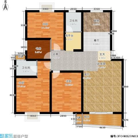 旭升花苑4室0厅2卫0厨137.00㎡户型图