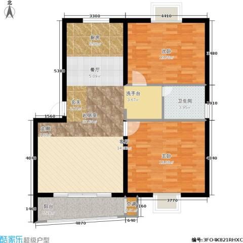 旭升花苑2室0厅1卫0厨86.00㎡户型图