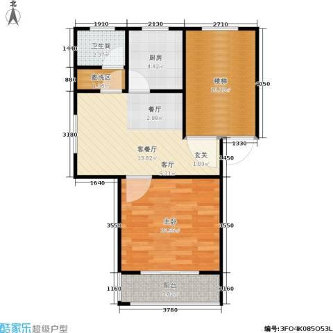 碧泉嘉园1室1厅1卫1厨53.00㎡户型图