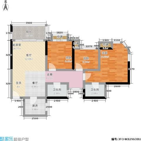 勤诚达22世纪项目 勤诚达和园 勤诚达宝安项目3室0厅2卫1厨86.00㎡户型图