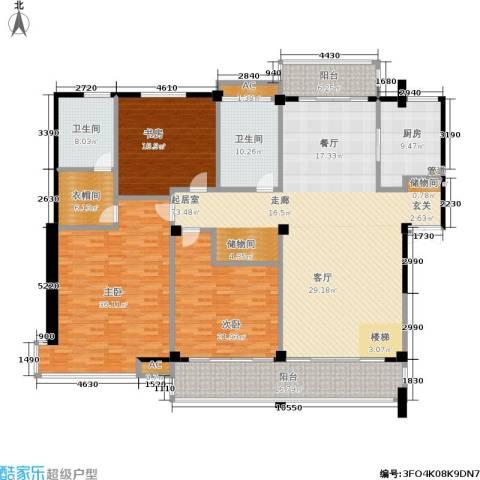 金鸡湖花园3室0厅2卫1厨230.00㎡户型图