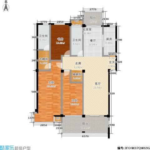 金鸡湖花园3室0厅2卫1厨160.00㎡户型图