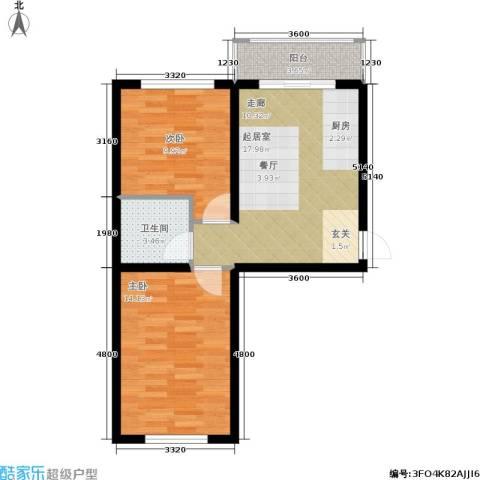 龙逸花园2室0厅1卫0厨70.00㎡户型图