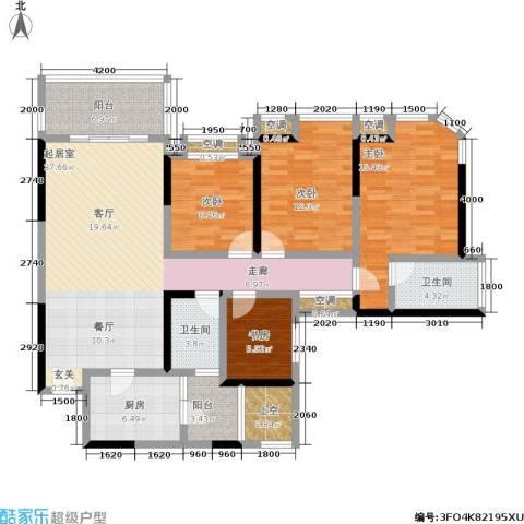 勤诚达22世纪项目 勤诚达和园 勤诚达宝安项目4室0厅2卫1厨131.00㎡户型图