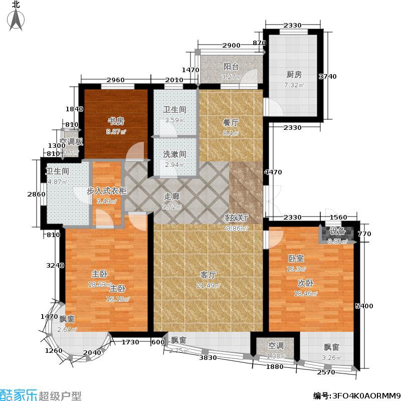 海印长城户型3室1厅2卫1厨
