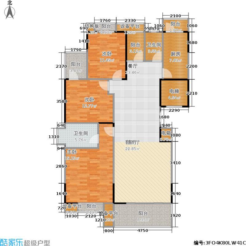 建鸿达现代华都现代华都2栋01面积140-145m2户型