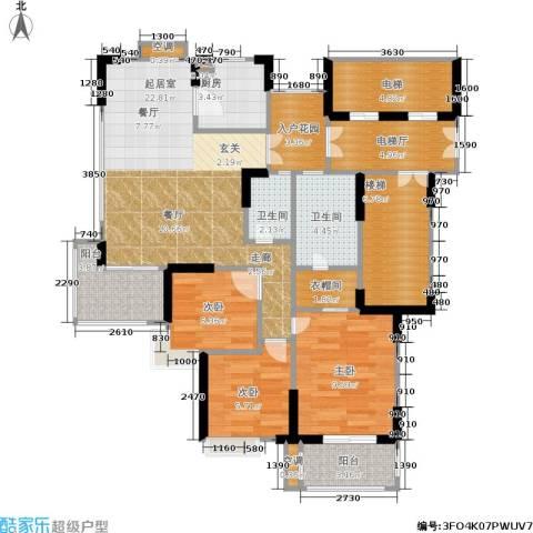 天泓山庄3室0厅2卫1厨95.00㎡户型图