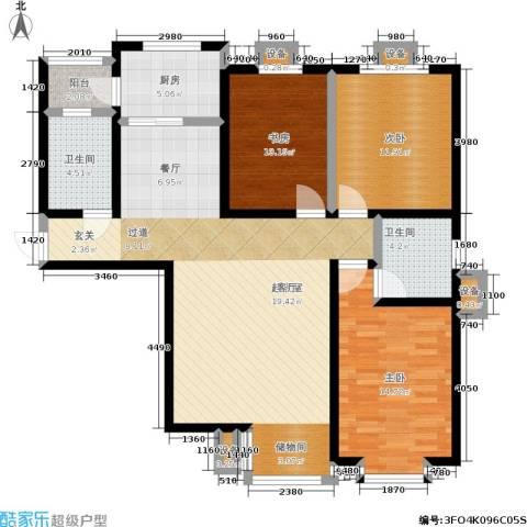 瑞泰澜庭3室0厅2卫1厨130.00㎡户型图