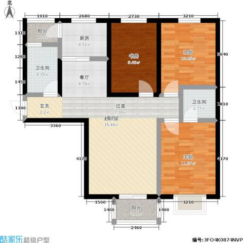 瑞泰澜庭3室0厅2卫1厨110.00㎡户型图
