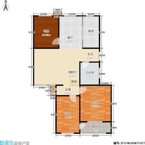 阿尔卡迪亚3室1厅1卫1厨100.00㎡户型图