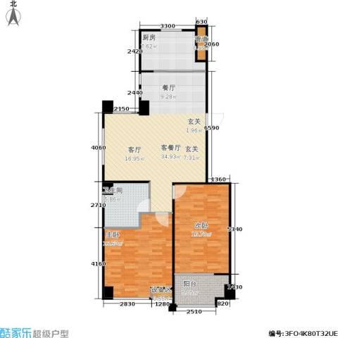 采菊东篱2室1厅1卫1厨96.00㎡户型图