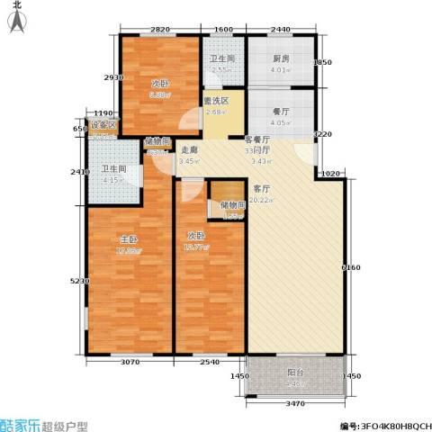 碧泉嘉园3室1厅2卫1厨93.00㎡户型图