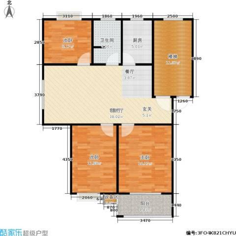 碧泉嘉园3室1厅1卫1厨93.00㎡户型图