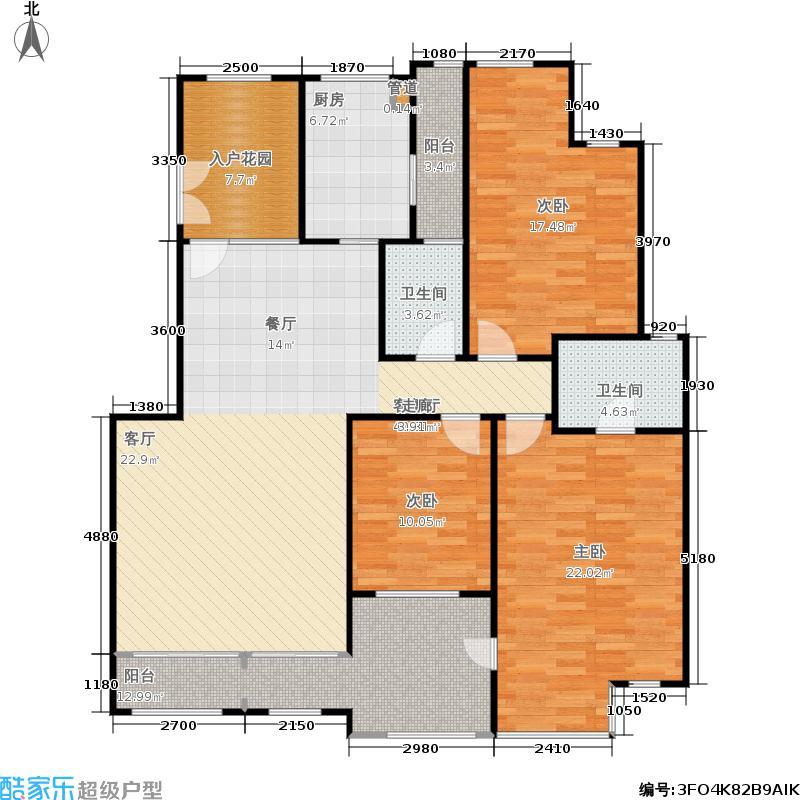 森林湖户型3室1厅2卫1厨