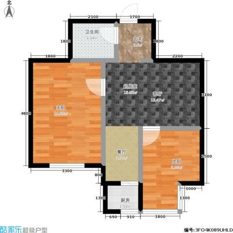 俪华精舍2室0厅1卫1厨65.00㎡户型图