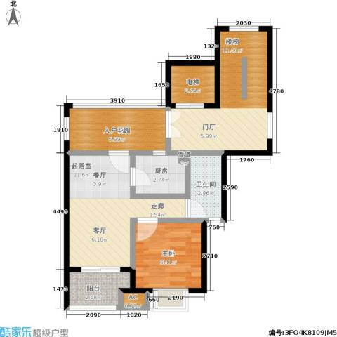 领秀江南花苑1室0厅1卫1厨55.00㎡户型图