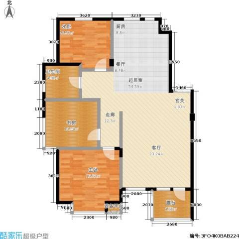保利上林湾一期3室0厅1卫0厨117.00㎡户型图