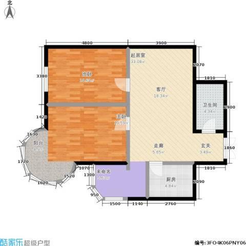 金苑华城2室0厅1卫1厨98.00㎡户型图