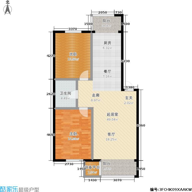 保利上林湾一期81.00㎡房型户型