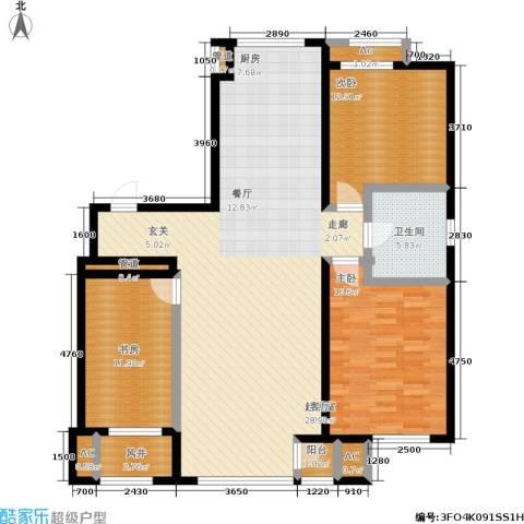 颐和香榭3室0厅1卫0厨121.00㎡户型图