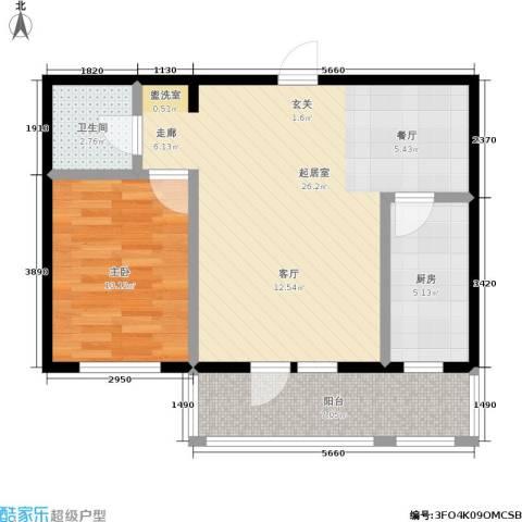 保利上林湾一期1室0厅1卫1厨63.00㎡户型图