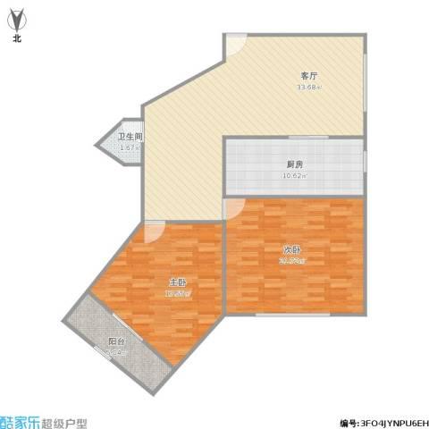 华山花苑2室1厅1卫1厨120.00㎡户型图